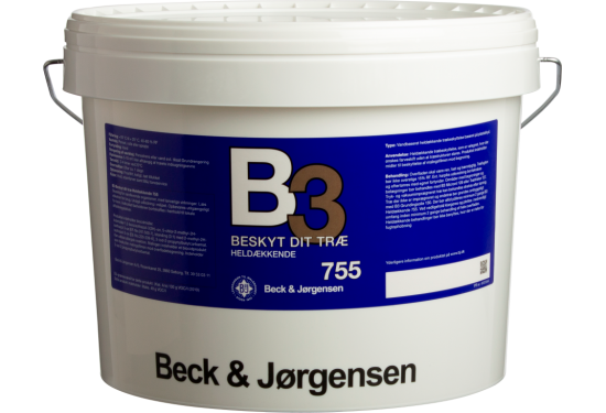 B&J B3 755 Heldæk. Træbesk. vandig