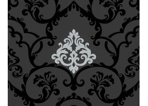 Tapet sort damask