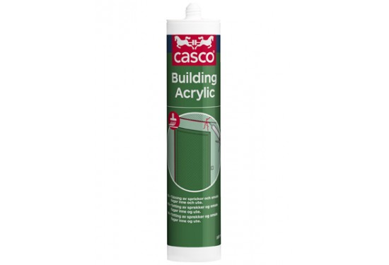 Casco Building Acryl Fugemasse Hvid 300 ml.