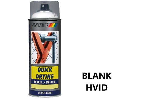 Motip Spray Hvid Blank 400ml