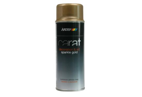 Motip Carat Spray Klarlak m/ Glittereffekt i Guld Blank 400ml